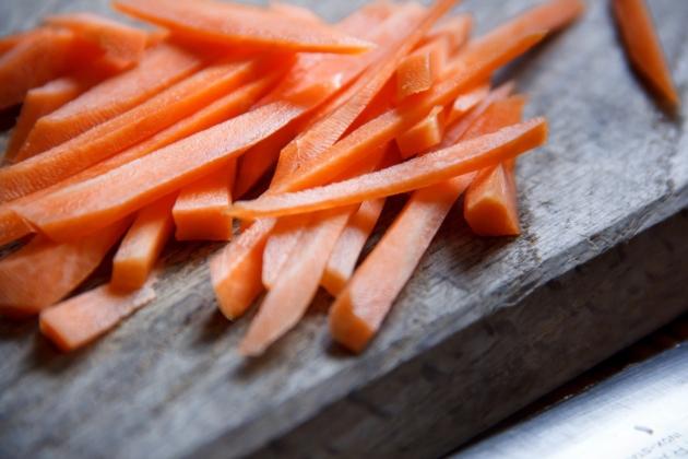 Karotten geschnitten