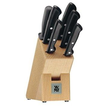 WMF Messerblock mit Messerset 7-teilig Classic Line 5 Messer, 1 Block aus Buchenholz und 1 Wetzstahl - 1